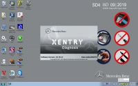V2019.09 MB Star SD Connect C4/C5 Software 09/2019 Mercedes Xentry Das Download Software HDD with DTS Monaco 8.13.029, Vediamo Supports HHT-WIN