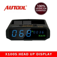 AUTOOL X100S GPS HUD Speedometer X100S Universal Car Solar Digital Meter supports for all car models