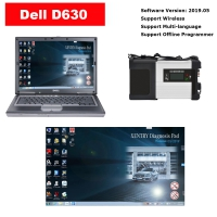 Mercedes Benz SD Connect 4 Mux With Dell D630 Laptop installed V2019.12 Mercedes Benz Xentry Software Full Set Ready To Use