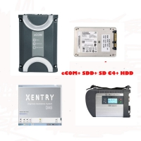 Mercedes Benz eCOM DoIP with 256G SSD + MB Star SD Connect C4 Multiplexer Mercedes with V2019.3 Xentry Das Software HDD