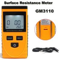 Benetech GM3110 Portable LCD Surface Resistance Meter Earth Resistance Meter with Data Holding Function GM3110 Surface Resistivity Meter Measuring range of resistance 103-1012Ω