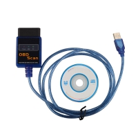 OBD SCAN ELM327 USB Cable ELM327 USB Plastic OBD2 Scanner with 2102 and 25K80 Chip