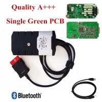 Single PCB Delphi DS150E New VCI Bluetooth Delphi DS150E OBD2 Cars Trucks Diagnostic Tool With Autocom/Delphi 2015.3 software