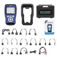 JDiag M100 Handheld Motorcyle Diagnostic Tool M100 Universal Motor Scanner 12V Battery Tester 2 in 1 Dual System Detection