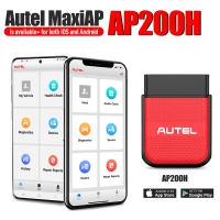 AUTEL MaxiAP AP200H OBD2 Code Reader Scanner for All Vehicles Supports Android/IOS MaxiAP AP200H With Wireless And Bluetooth Download free software for vehicle brand