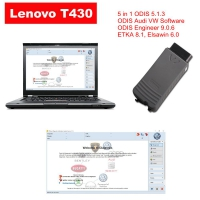Audi VW ODIS Interface VAS 5054a With Lenovo T430 Laptop Installed V5.1.3 ODIS Download Software Ready To Use