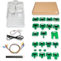 Aluminum BDM Frame With LED With 4 Probes and Mesh + 22pcs BDM Probe Adapters Full Set for KESS Dimsport KTAG