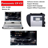 MB Star SD Connect C4 Multiplexer Mercedes With Panasonic CF-C2 Laptop installed V2019.12 Benz Xentry Das Software