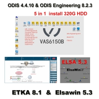 5 in 1 ODIS 4.4.10 Download Software VAG Audi VW ODIS 4.4.10 Crack Software With ODIS Engineering 8.2.3 Download, ETKA 8.1, Elsawin 5.3 installed On 320GB HDD