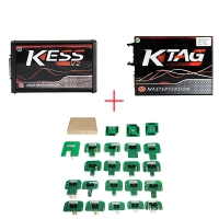 Red PCB Kess 5.017 EU Version With K-suite 2.47 + Ktag 7.020 EU Clone Red PCB + BDM Probe Set