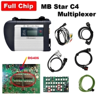 Quality A MB SD Connect Compact 4 Star Diagnosis C4 Multiplexer Mercedes Cars Trucks Diagnostic Tool With Best DG406 Chip And Ram