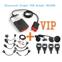 VIP order Single PCB Delphi DS150E 2015.3 Bluetooth + Delphi Car Cable Kit + Delphi Truck Cables