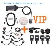 VIP order Single PCB Autocom CDP+ Bluetooth 2015.3 + Autocom Car Cables + Delphi Truck Cables