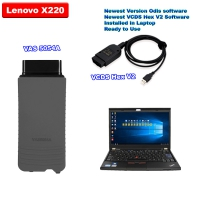 V21.3.0 VCDS HEX-V2 Can USB + Super VAS 5054a Bluetoth with V7.1.1 ODIS Download Software Well Installed On Lenovo X220 Laptop Ready To Use