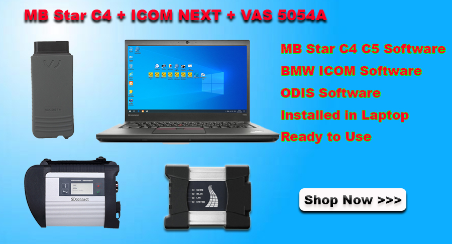 MB Star SD Connect C4 + BMW ICOM NEXT + VAS 5054A With Lenovo La