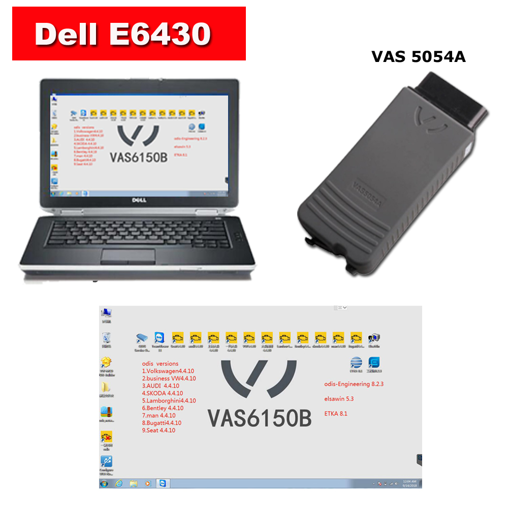Super Vas 5054a Audi VW Diagnostic Tool With Dell E6430 Laptop Installed ODIS 4.4.10 Download Software Ready To Use